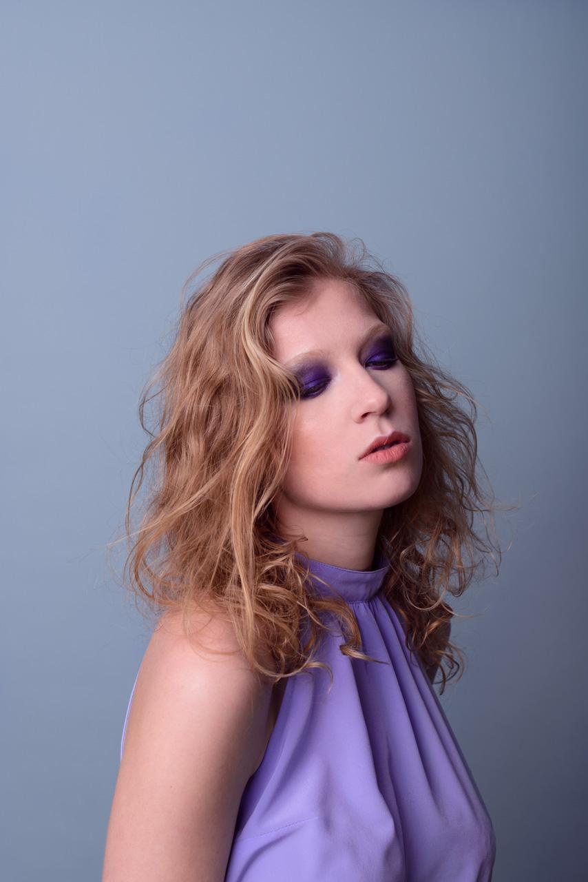 Fashion Editorial Purple Eyes